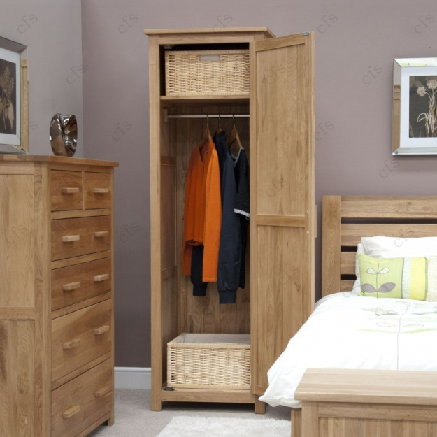 Homestyle GB Opus Oak Wardrobe - Single