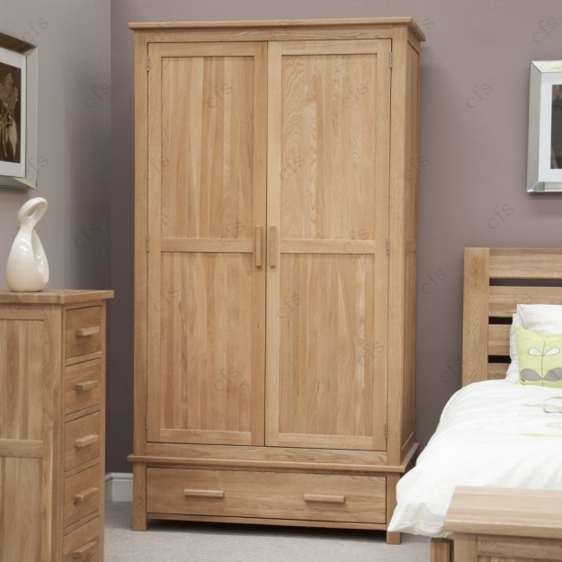 Homestyle GB Opus Oak Wardrobe - Gents