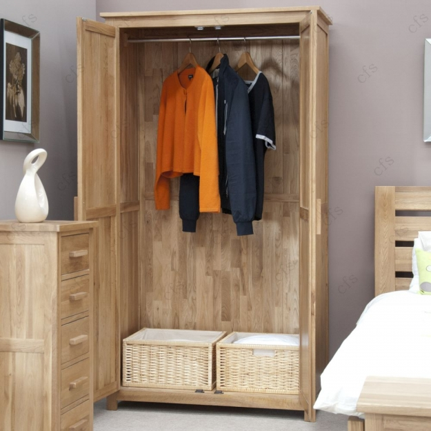 Homestyle GB Opus Oak Wardrobe - Ladies