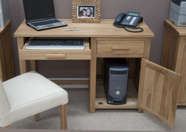 Homestyle GB Opus Oak Computer Desk - Small