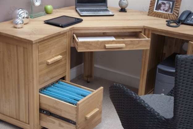 Homestyle GB Opus Oak Computer Desk - Corner