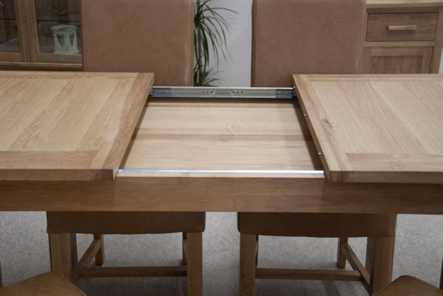 Homestyle GB Opus Oak Dining Set Extending With 6 Louisa