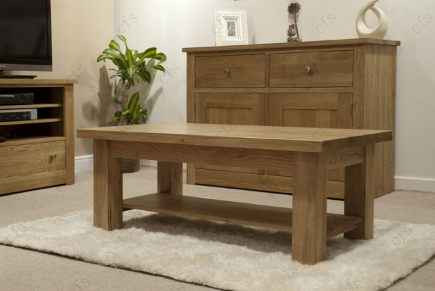 Homestyle GB Vermont Oak Coffee Table - 4 x 2