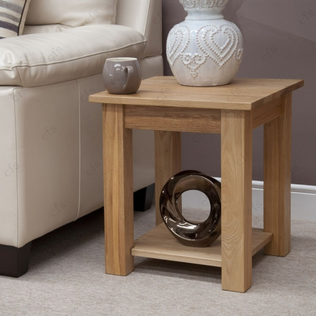 Homestyle GB Lyon Oak Lamp Table