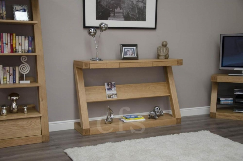 Homestyle GB Z Oak Designer Hall Table with Drawer