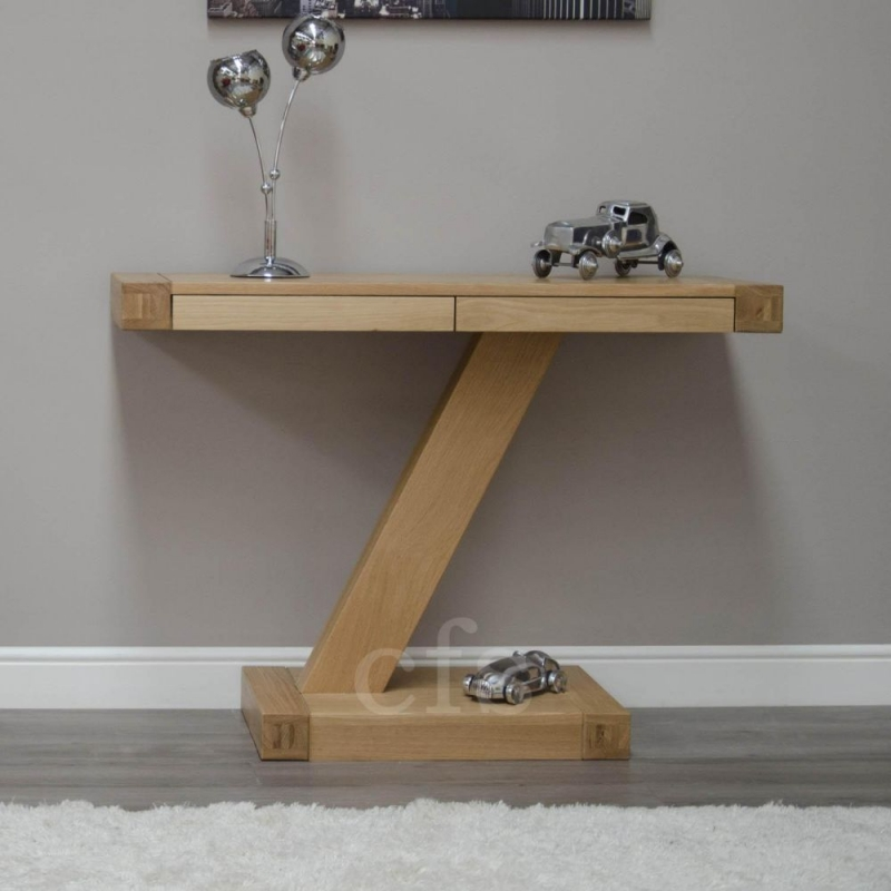Homestyle GB Z Oak Designer Console Table - Small