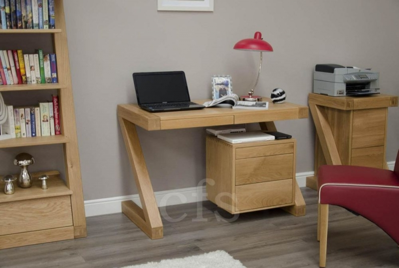 Homestyle GB Z Oak Designer Desk - Small