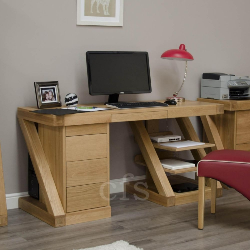 Homestyle GB Z Oak Designer Desk - Large
