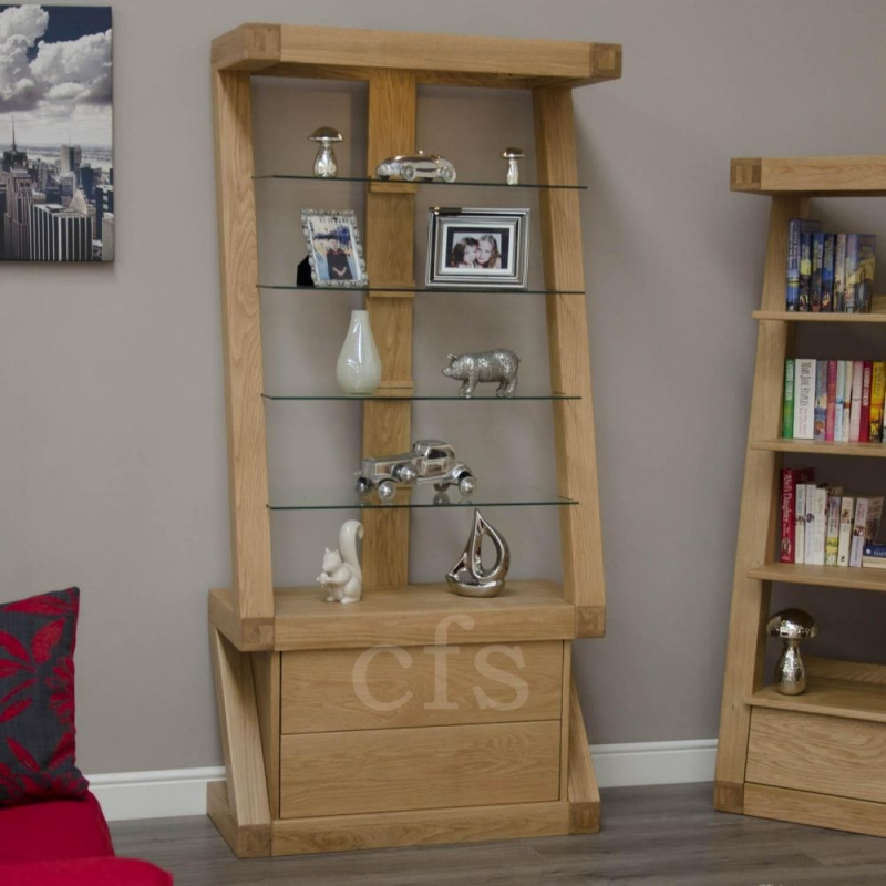 Homestyle GB Z Oak Designer Glass Display Cabinet