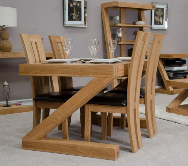 Homestyle GB Z Oak Designer Dining Set - Small with 4 Venezia Chairs