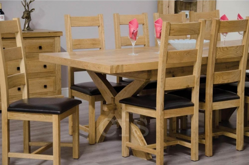Homestyle GB Deluxe Oak Dining Chair - Ladder Back (Pair)