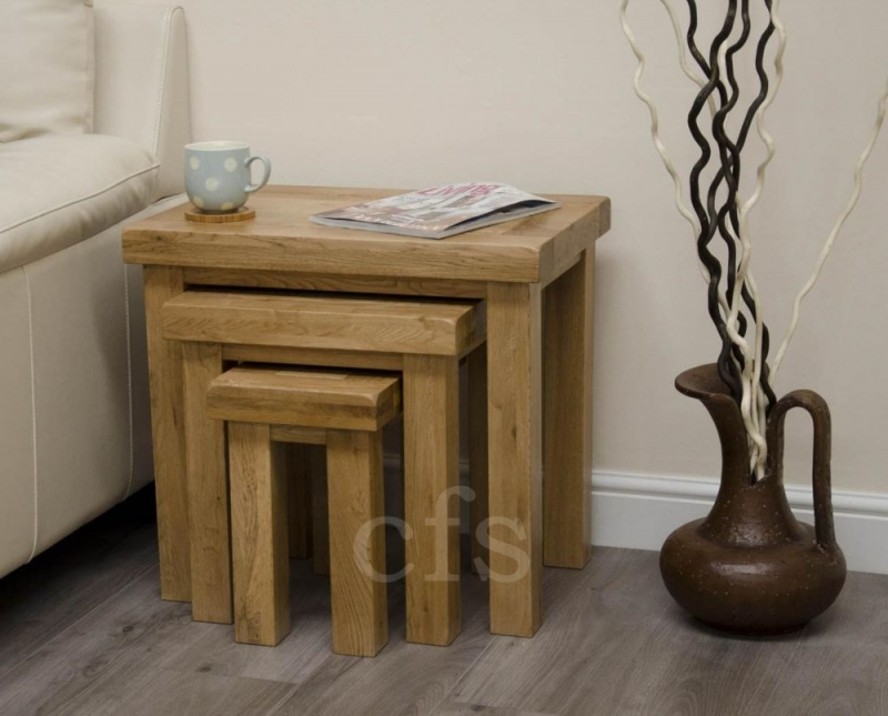 Homestyle GB Deluxe Oak Nest of Table