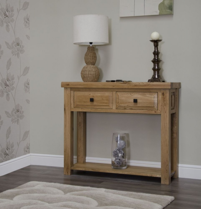 Homestyle GB Deluxe Oak Hall Table