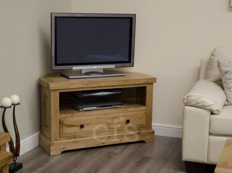 Homestyle GB Deluxe Oak TV Unit  Corner