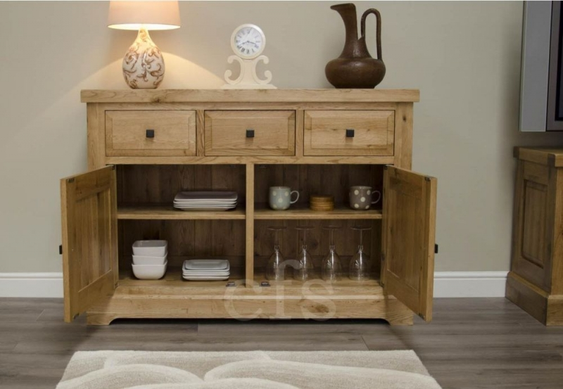 Homestyle GB Deluxe Oak Sideboard - Medium