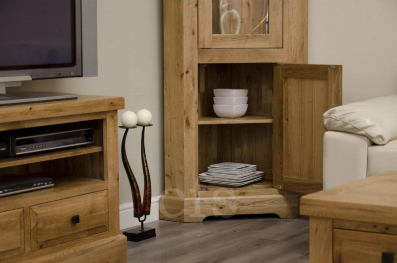 Homestyle GB Deluxe Oak Display Unit - Corner