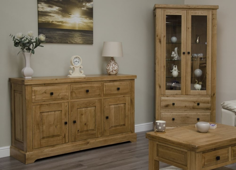 Homestyle GB Deluxe Oak Display Cabinet