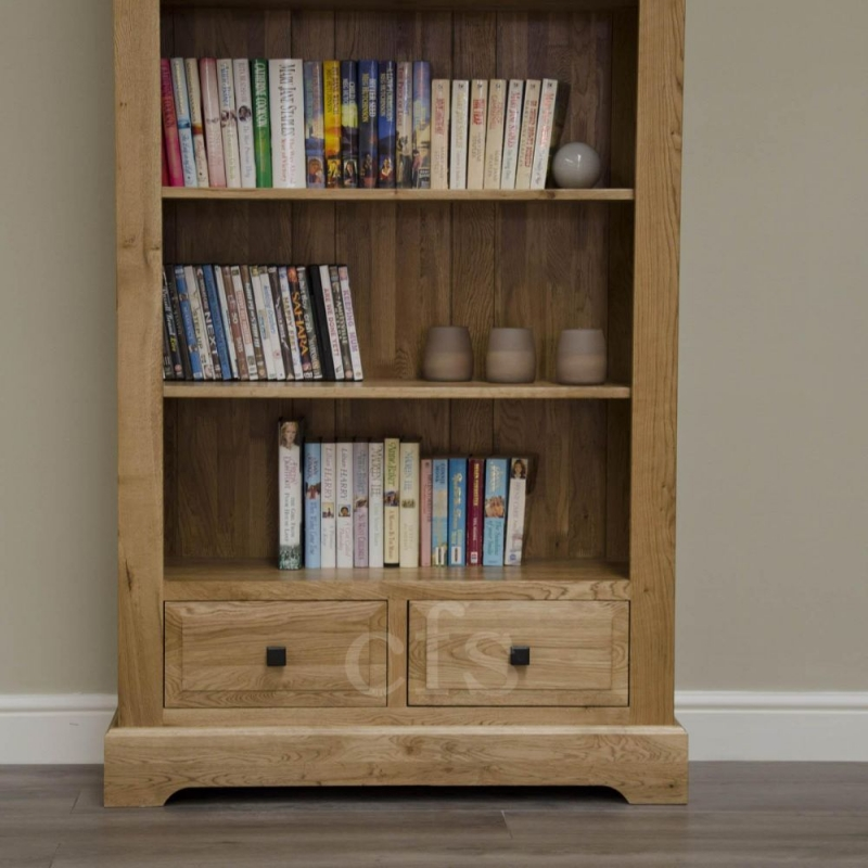 Homestyle GB Deluxe Oak Bookcase - Large