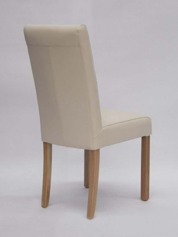 Homestyle GB Marianna Dining Chair (Pair) - Ivory Bycast Leather