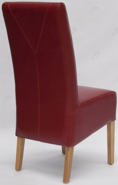 Homestyle GB Oslo Bycast Leather Dining Chair - Red (Pair)