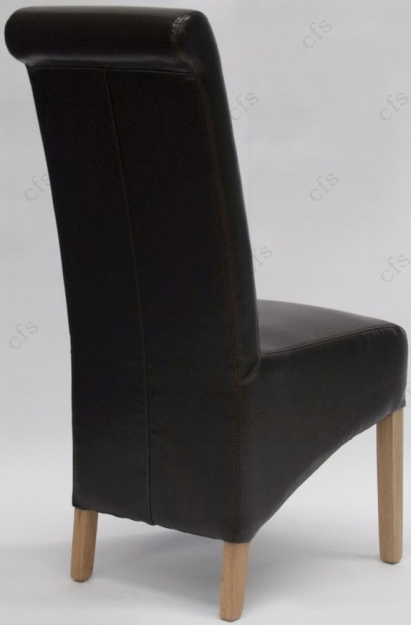 Homestyle GB Richmond Bonded Leather Dining Chair - Brown (Pair)