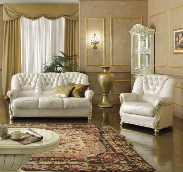 Camel Leonardo Italian Leather Sofa Suite - 3+1 Seater