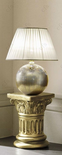 Camel Barocco Ivory and Gold Italian Silver Lamp