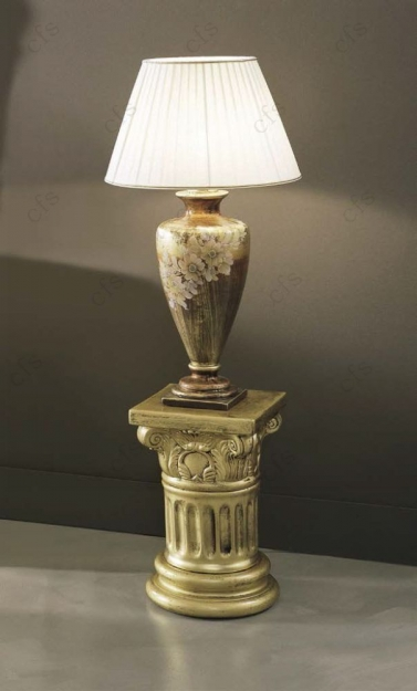 Camel Barocco Ivory and Gold Italian Mecca Gold Lamp CR264