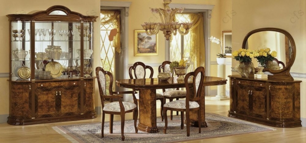 Camel Milady Walnut Italian Dining Chair (Pair)