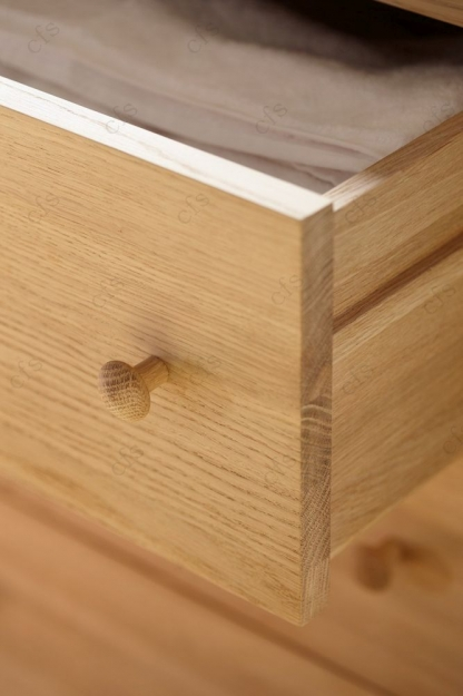 Qualita Hudson Oak Chest of Drawer - 5 Drawer Tall
