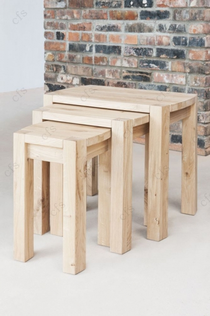 Qualita Goliath Oak Nest of Tables