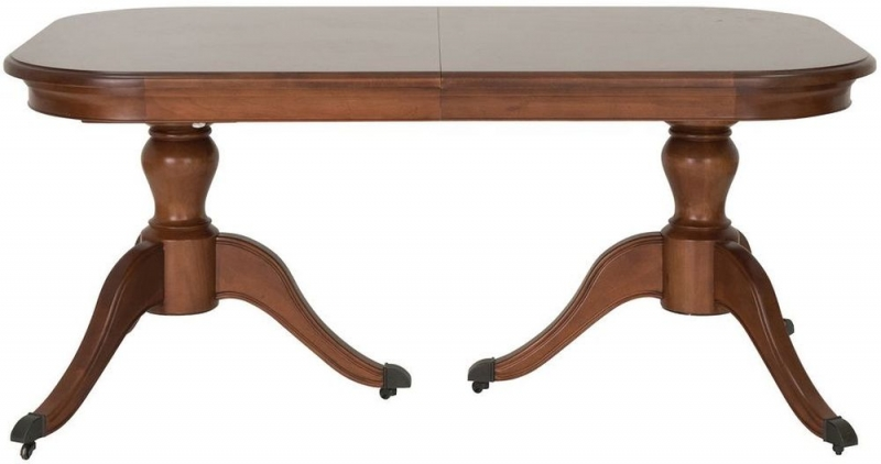 Willis and Gambier Lille Cherry Rectangular Twin Pedestal Dining Table - 169cm-219cm