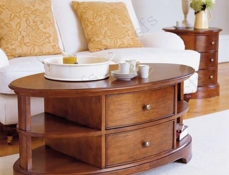 Willis and Gambier Lille Cherry Coffee Table - Oval