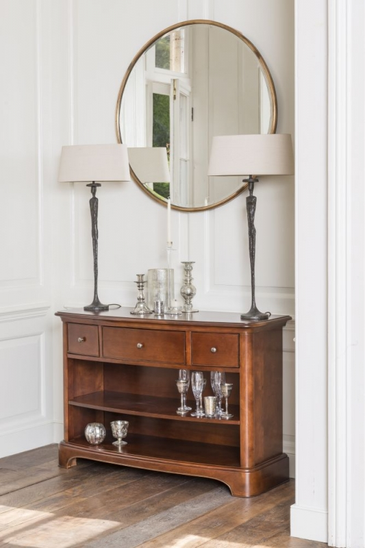 Willis and Gambier Lille Cherry 3 Drawer Console Table