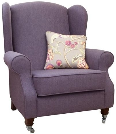 Buoyant Chelsea Linso Charcoal Fabric Accent Chair