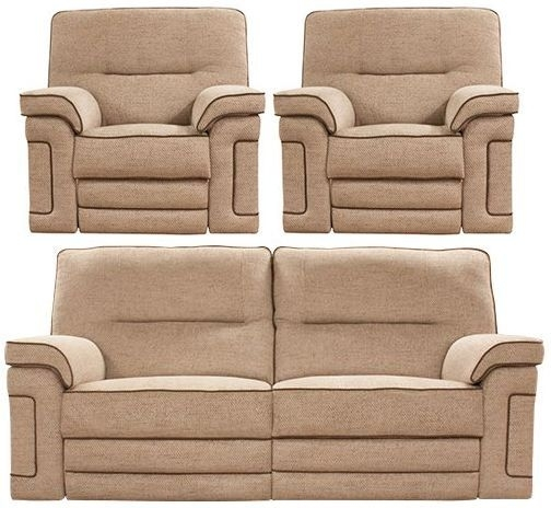 Buoyant Plaza 3+1+1 Seater Fabric Recliner Sofa Suite