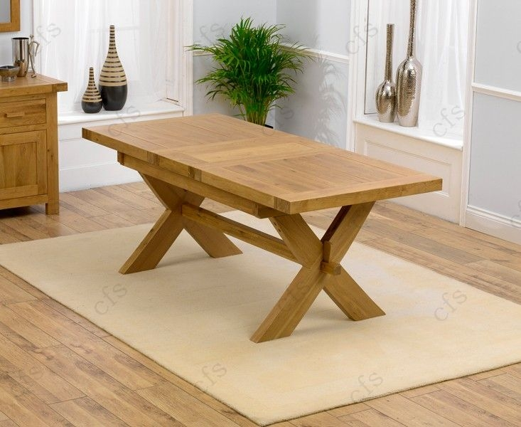 Mark Harris Avignon Solid Oak 160cm Extending Dining Table
