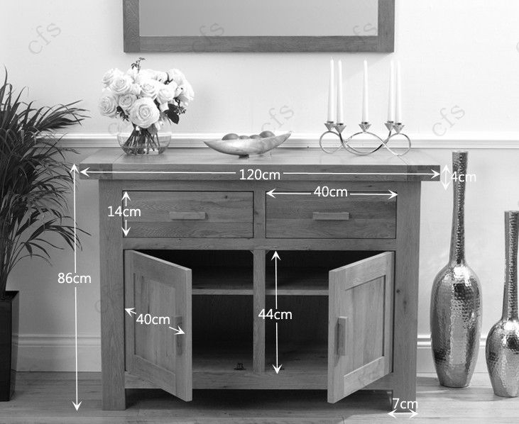 Sideboard 120 Cm ~ Buy mark harris avignon solid oak sideboard 2 door 2 drawer 120cm