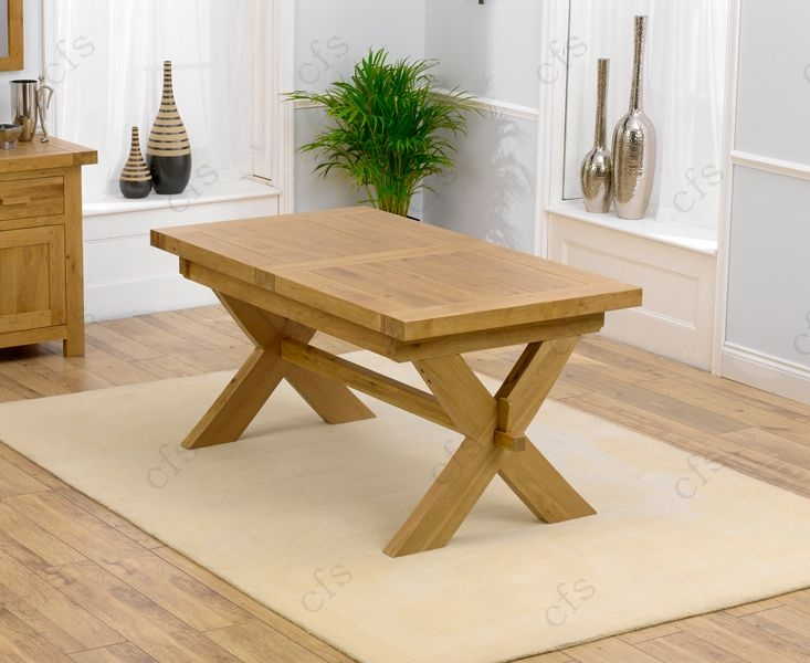Mark Harris Avignon Solid Oak 160cm Extending Dining Table with 6 John Louis Brown Chairs