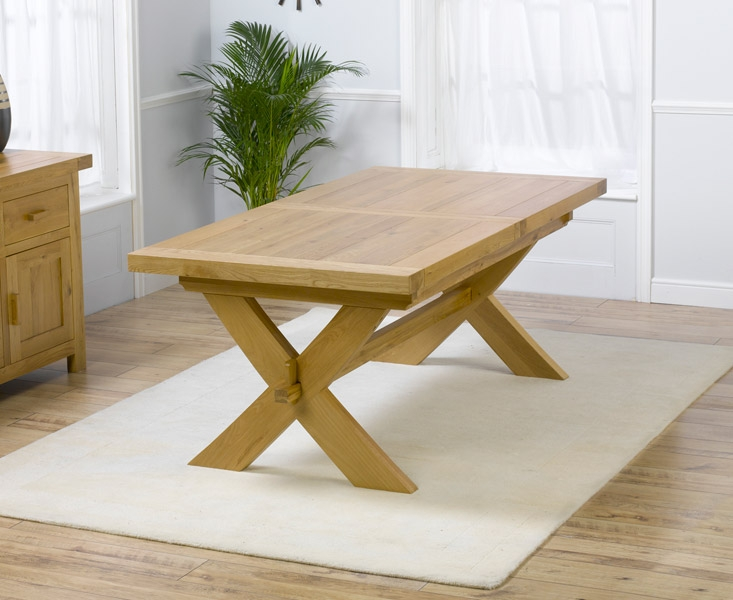 Mark Harris Avignon Solid Oak Dining Set - 200cm Extending with 4 Monte Carlo Brown Chairs