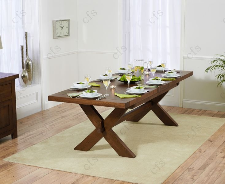 Mark Harris Avignon Solid Dark Oak 200cm Extending Dining Table