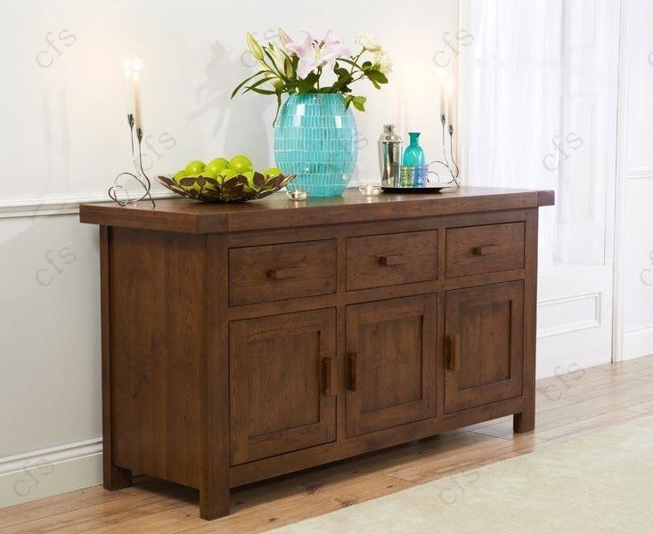 Mark Harris Avignon Solid Dark Oak Large Sideboard