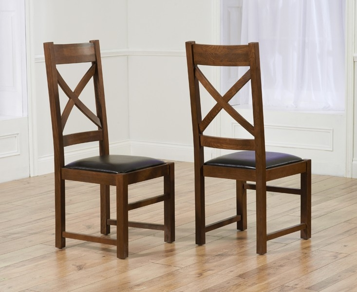 Mark Harris Avignon Solid Dark Oak Dining Set - 200cm Extending with 6 Canterbury Dark Brown Chairs