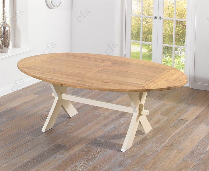 Mark Harris Avignon Oak and Cream 165cm Extending Dining Table