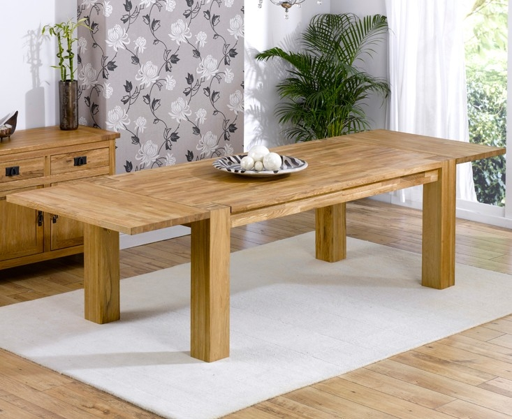 Mark Harris Madrid Solid Oak Dining Set - 240cm Extending with 4 Pailin Beige Chairs