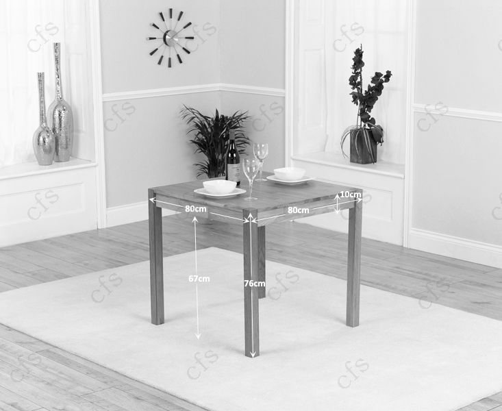 Mark Harris Marbella Dark 80cm Dining Table with 2 Chairs