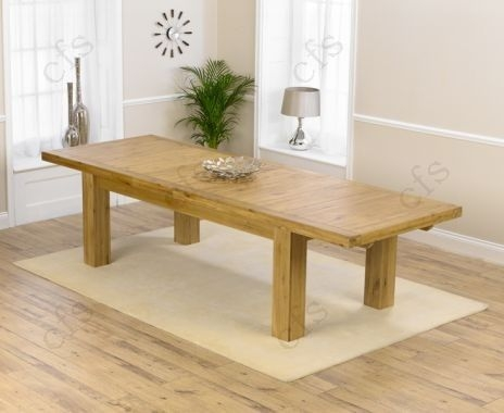 Mark Harris Laurent Solid Oak 230cm Extending Dining Table with 8 Valencia Timber Chairs