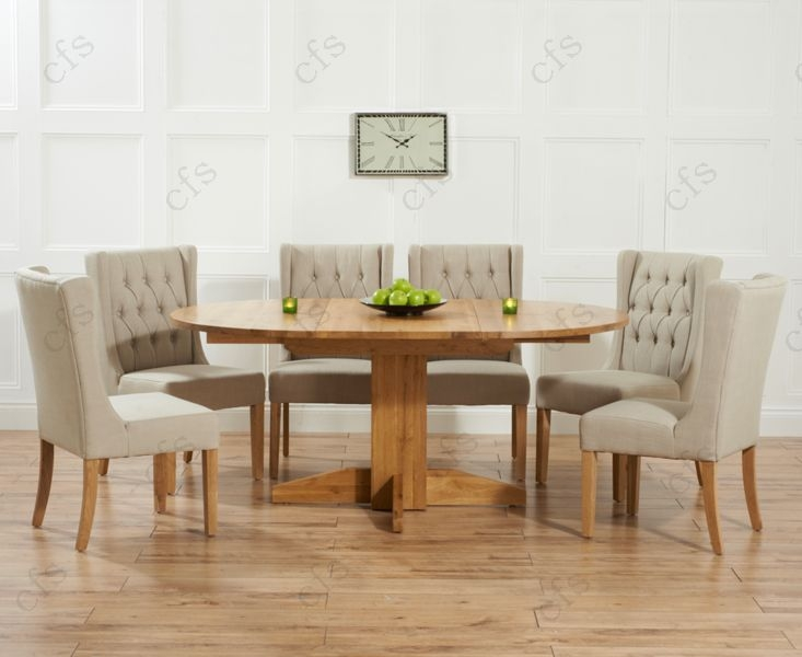 Buy Mark Harris Dorchester Solid Oak 120cm Round Extending Dining