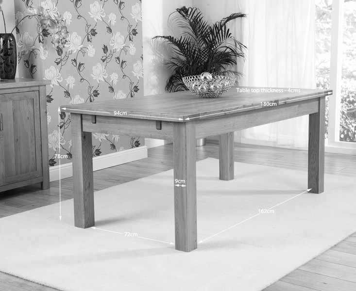 Mark Harris Rustique Solid Oak Dining Table - 180cm Extending