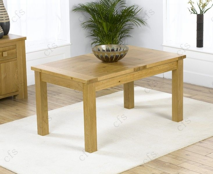 Mark Harris Rustique Solid Oak 120cm Extending Dining Table With 6 Roma Cream
